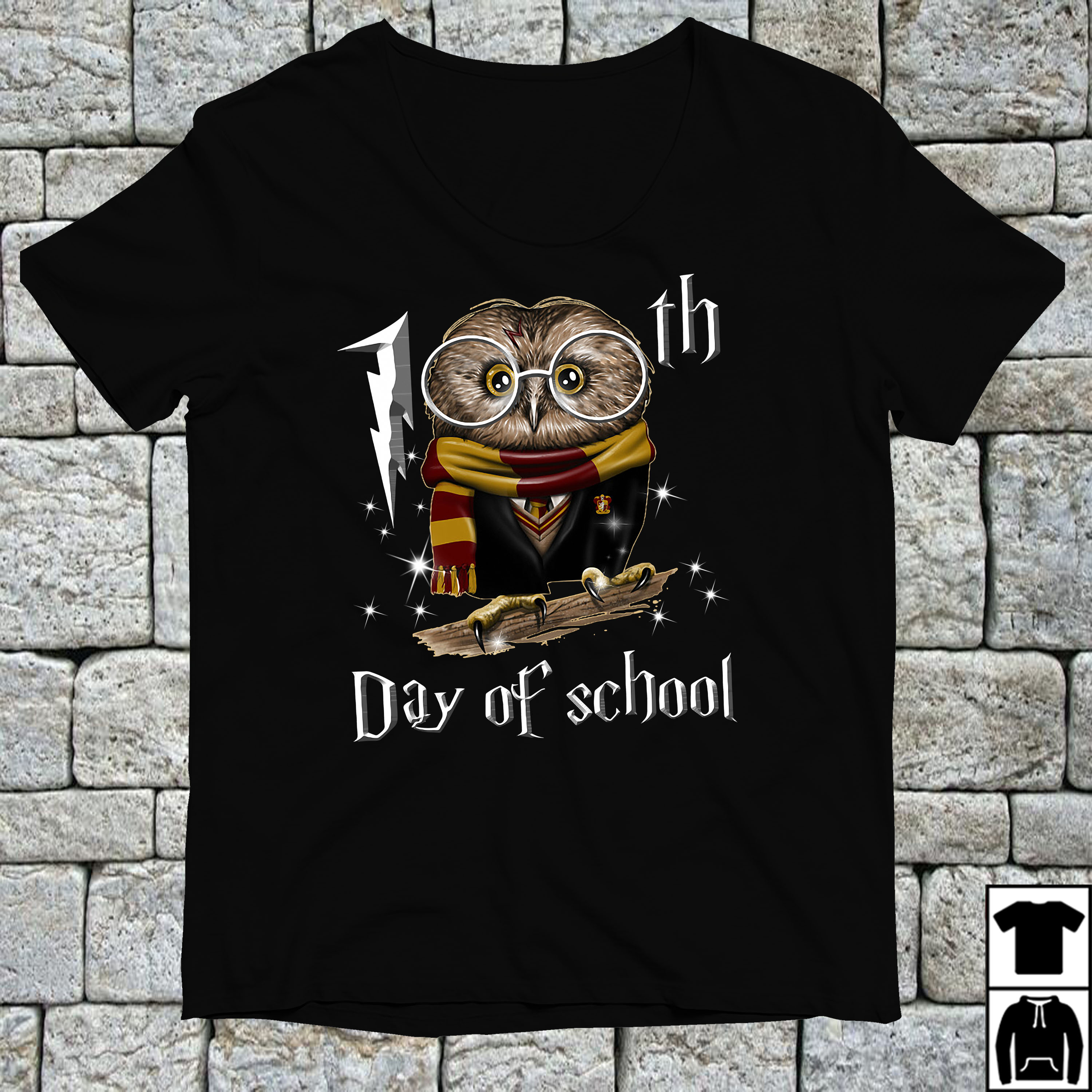 Harry Potter Owl 100th day of school shirt