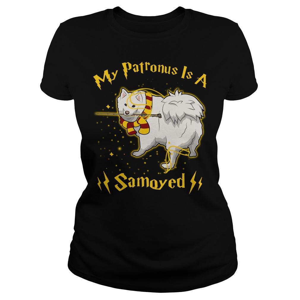 Harry Potter My Patronus is a Samoyed Ladies Tee