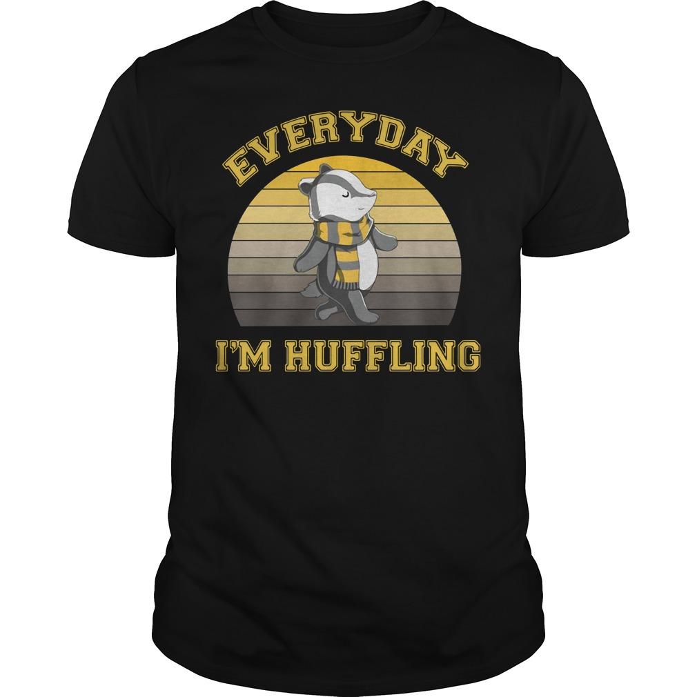 Huffle Badger everyday I huffling retro Guys Shirt