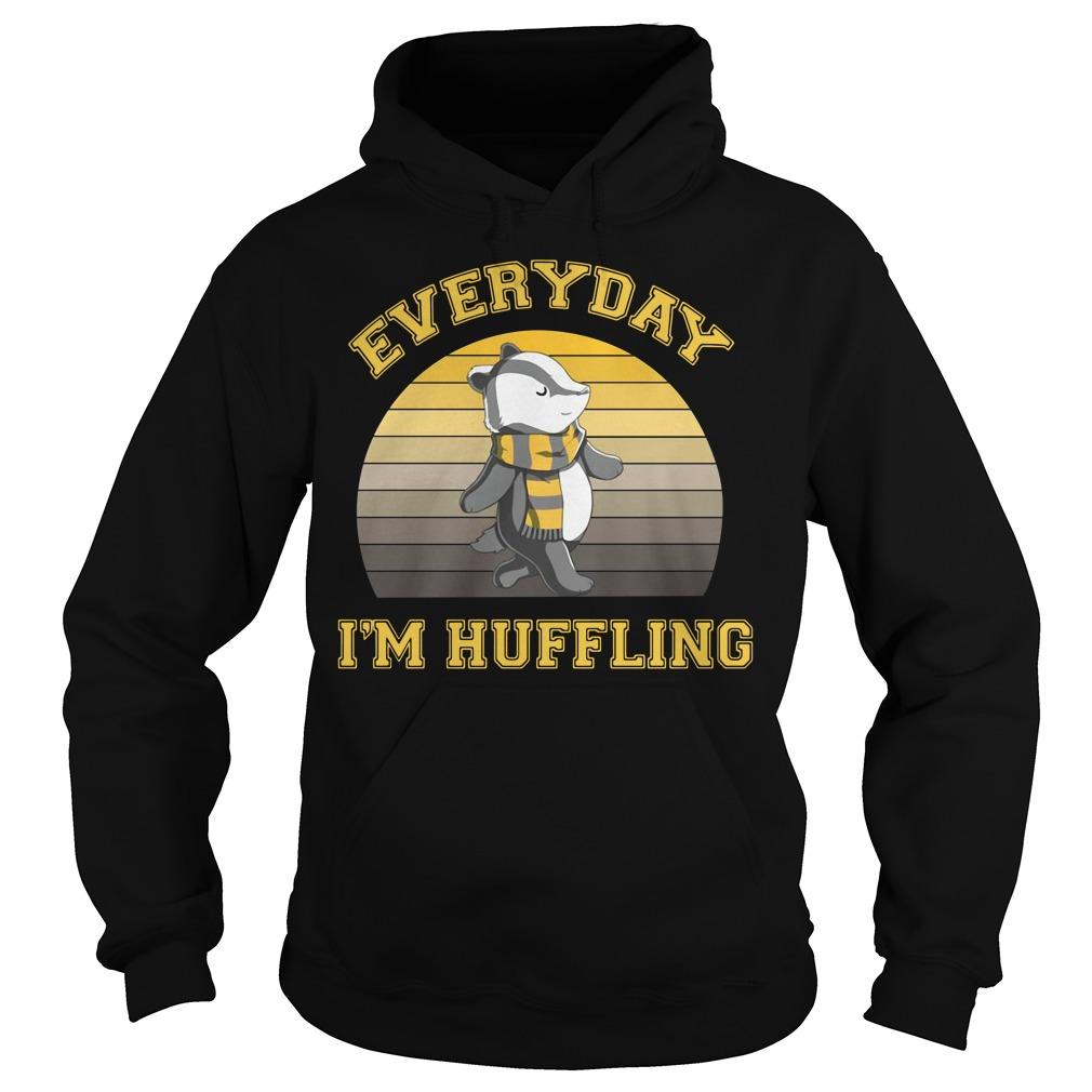Huffle Badger everyday I huffling retro Hoodie