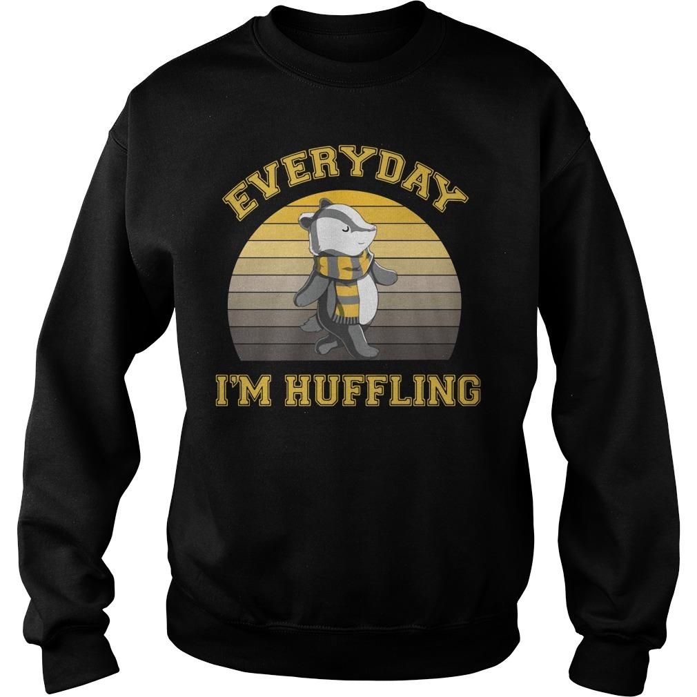 Huffle Badger everyday I huffling retro Sweater