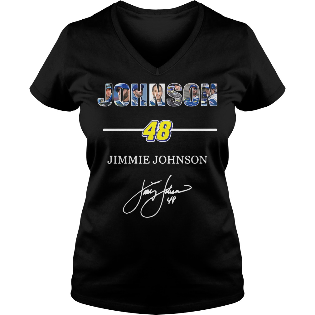 Johnson 48 Jimmie Johnson V-neck T-shirt