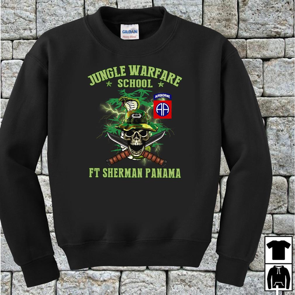 Jotc Airborne Jungle Warfare school FT Sherman Panama shirt