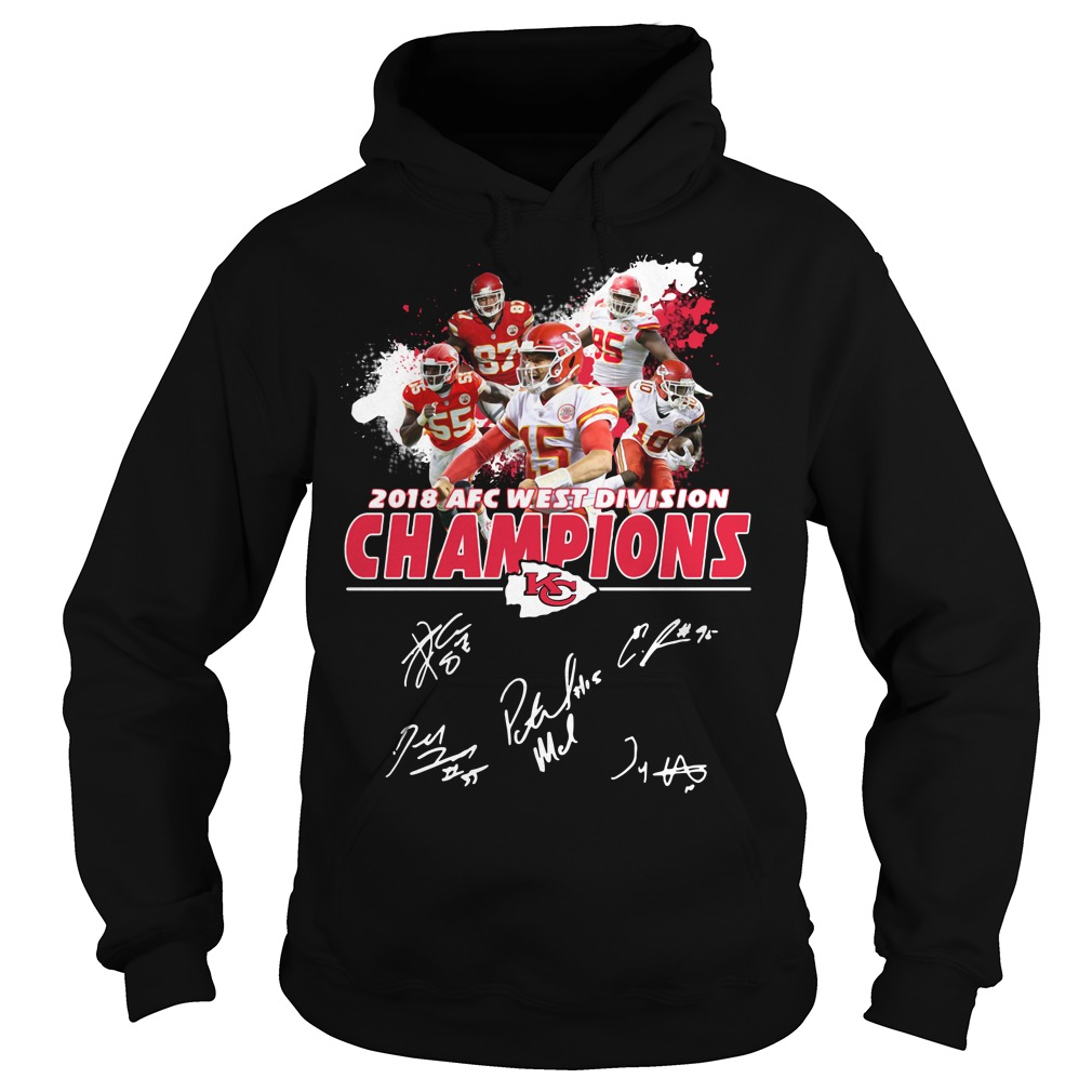 Kansas City Chiefs 2018 AFC west division champions Hoodie