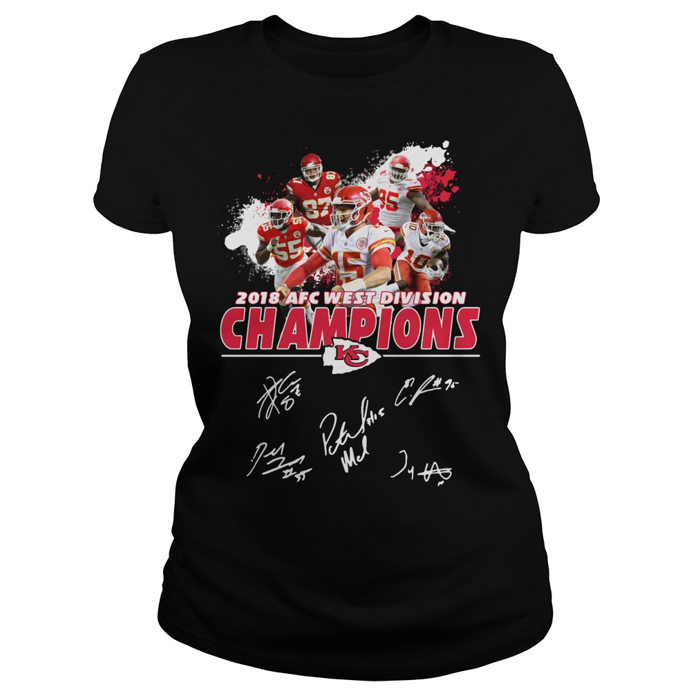 Kansas City Chiefs 2018 AFC west division champions Ladies Tee