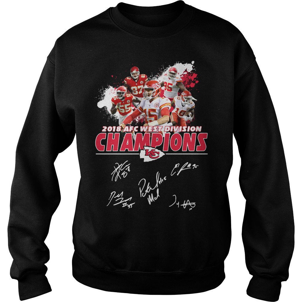Kansas City Chiefs 2018 AFC west division champions Sweater