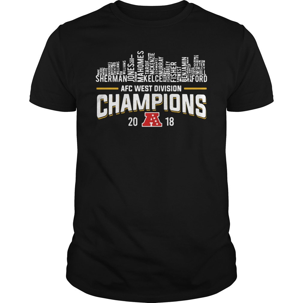 Kansas City Chiefs AFC west division champions 2018 Guys Shirt