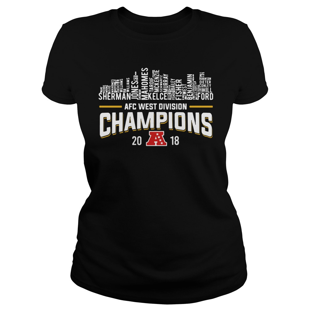 Kansas City Chiefs AFC west division champions 2018 Ladies Tee