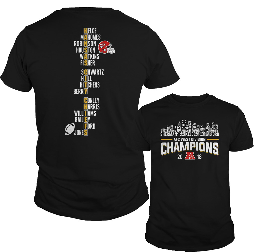 Kansas City Chiefs AFC west division champions 2018 shirt