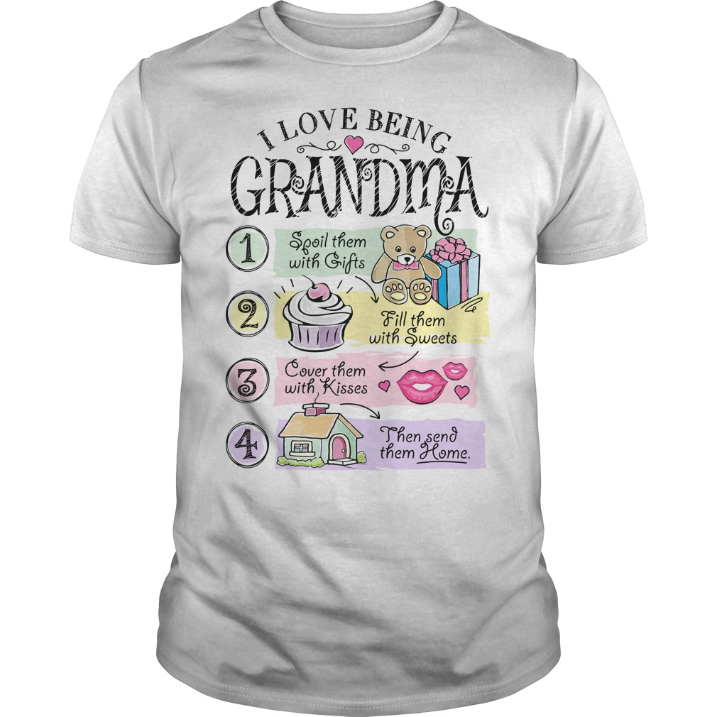 I love being grandma spoil them with gifts fill them with sweets Guys Shirt