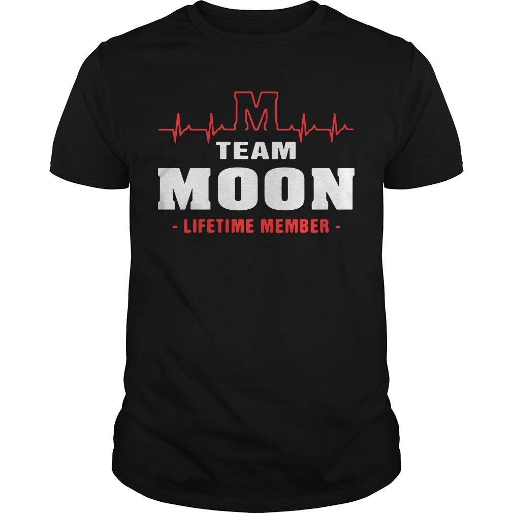 M team moon lifetime member Guys Shirt