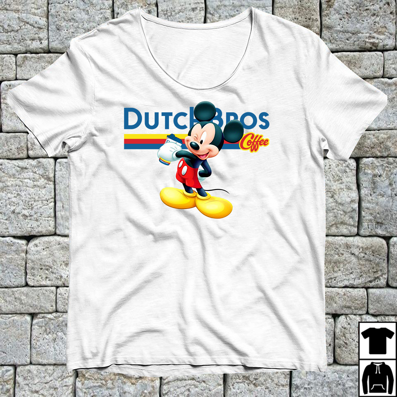 Mickey Mouse drink Dutch Bros coffee shirt