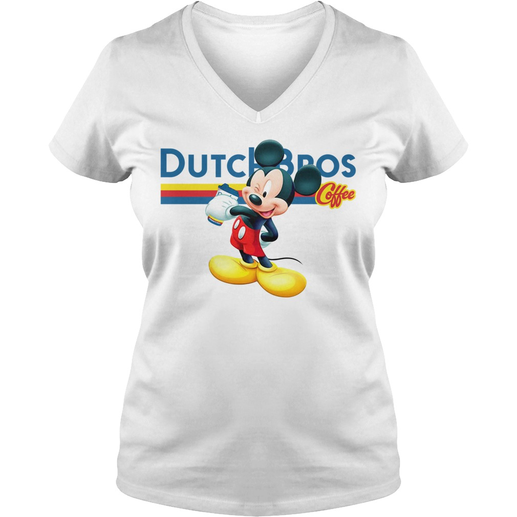 Mickey Mouse drink Dutch Bros coffee V-neck T-shirt
