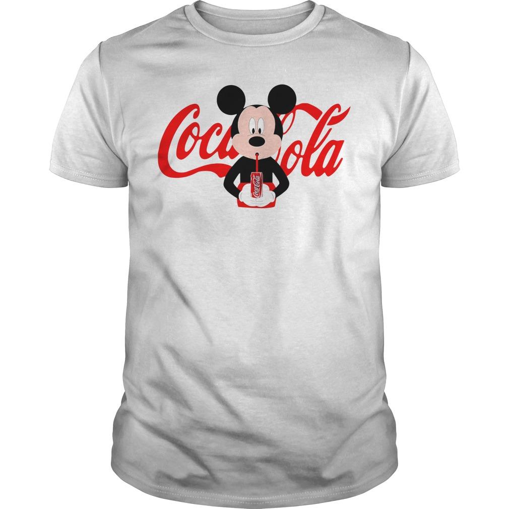 Mickey Mouse drinks coca cola Guys Shirt