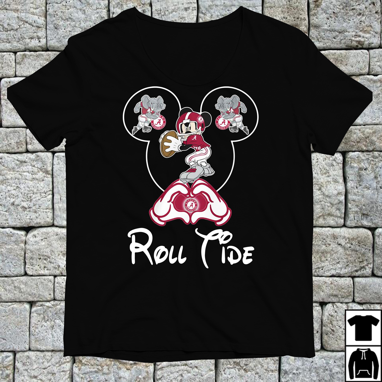 Mickey mouse love Alabama Crimson Tide shirt