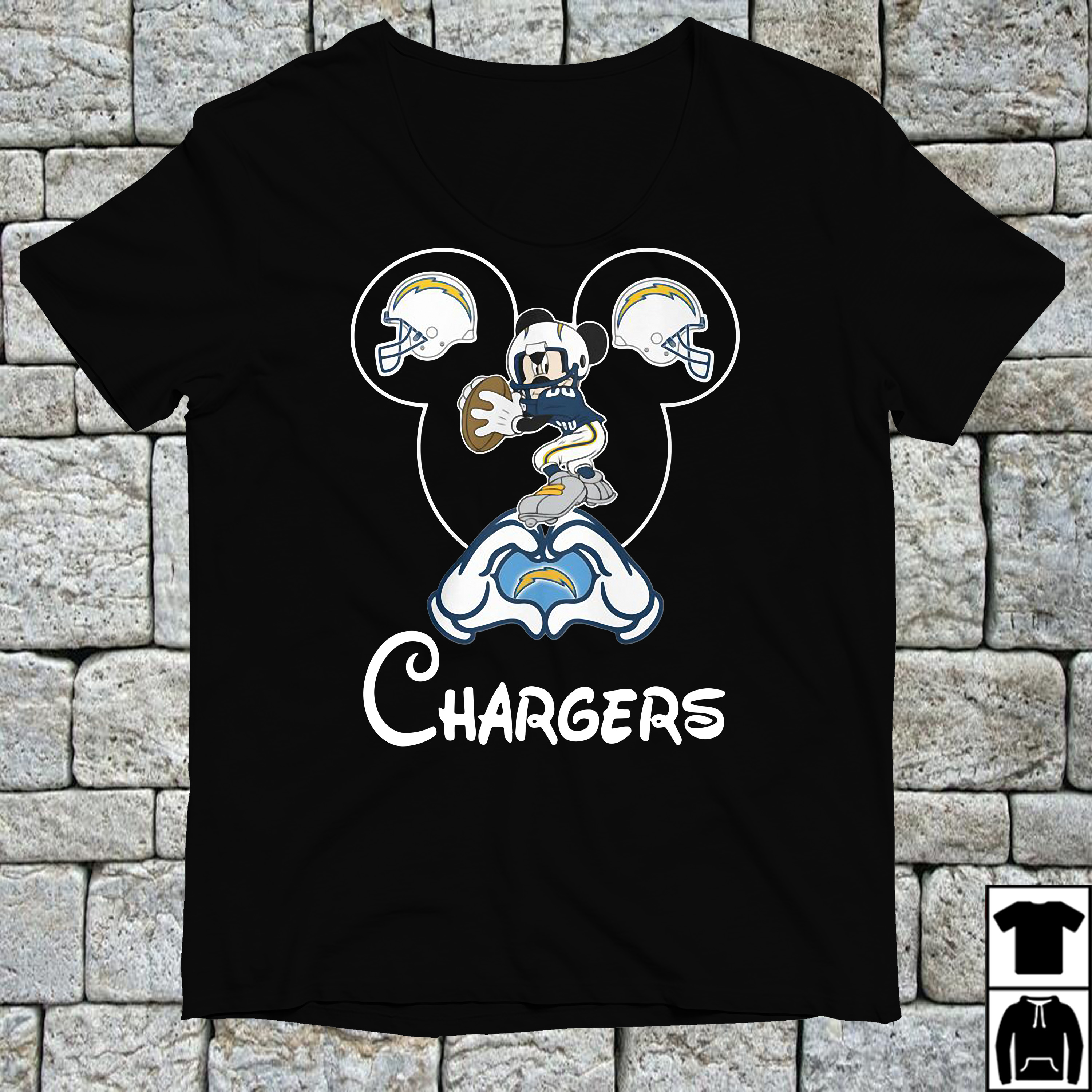 Mickey mouse love Los Angeles Chargers shirt