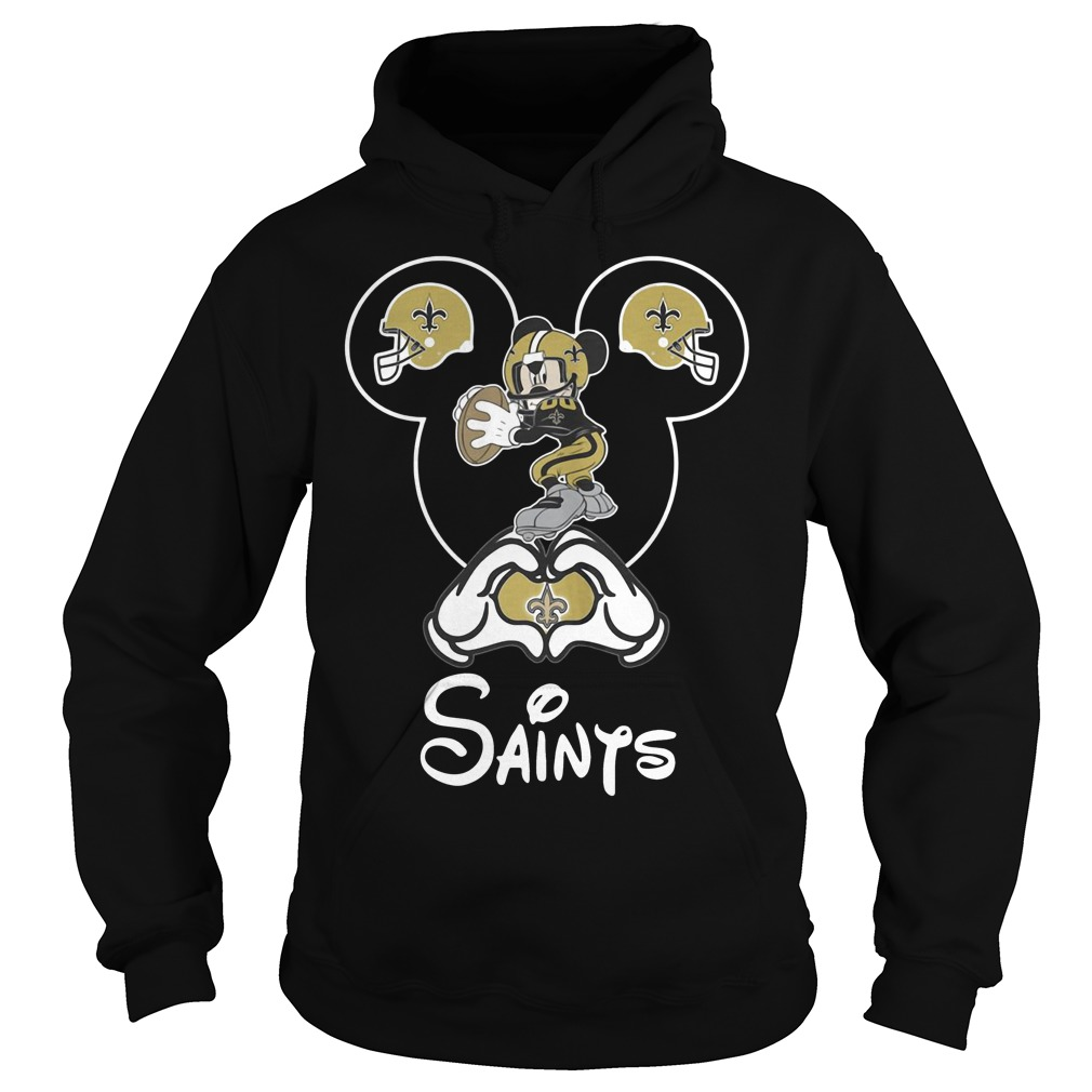 Mickey mouse New Orleans Saints Hoodie