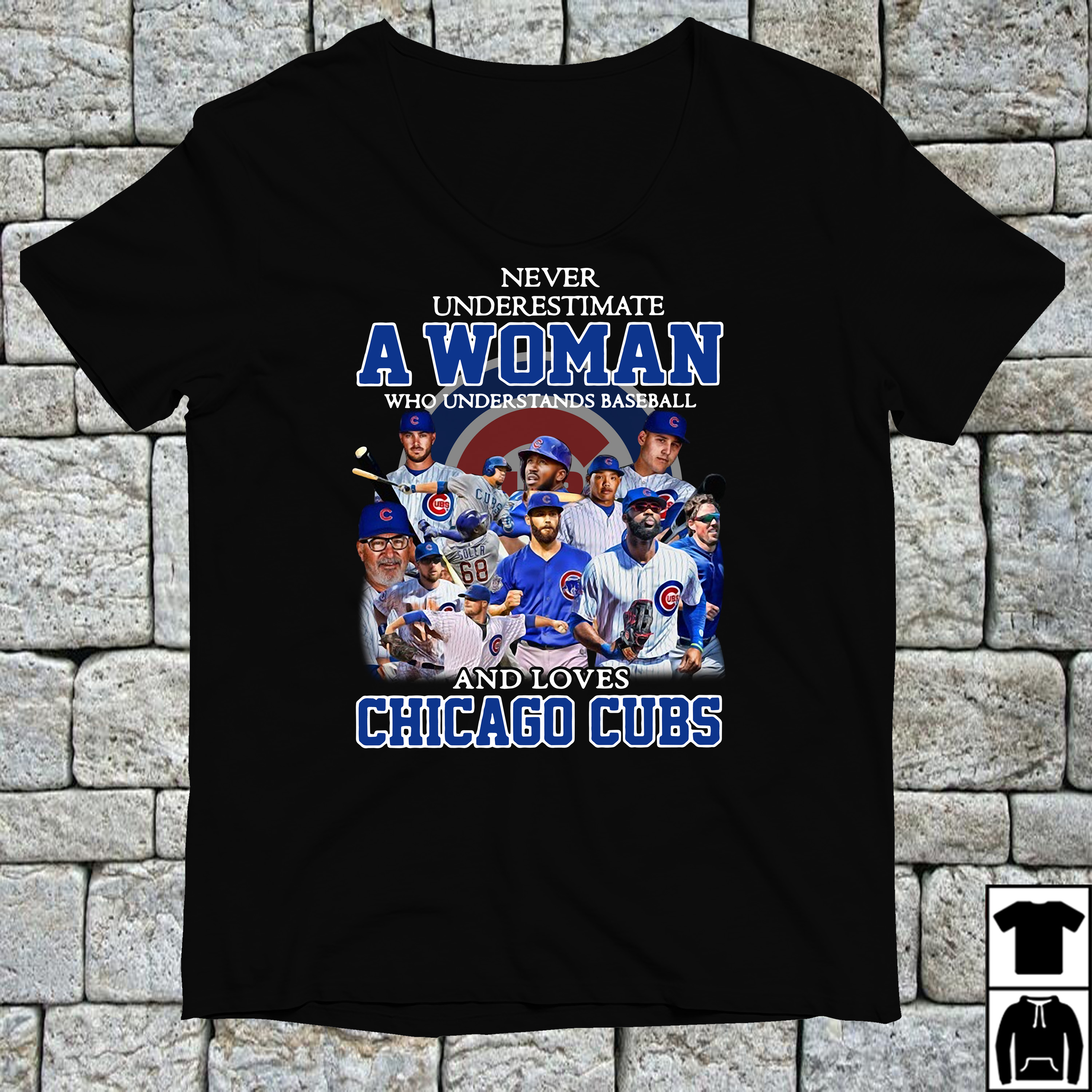 Never underestimate a woman who understands loves Chicago Cubs shirt