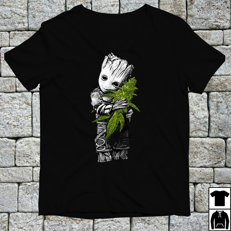 Official Baby Groot hug weed shirt