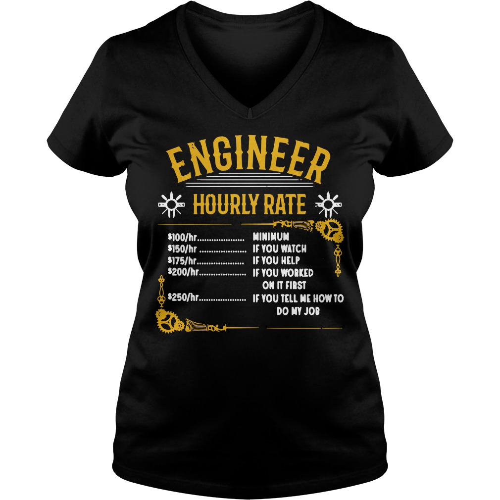 Official Engineer hourly rate V-neck T-shirt
