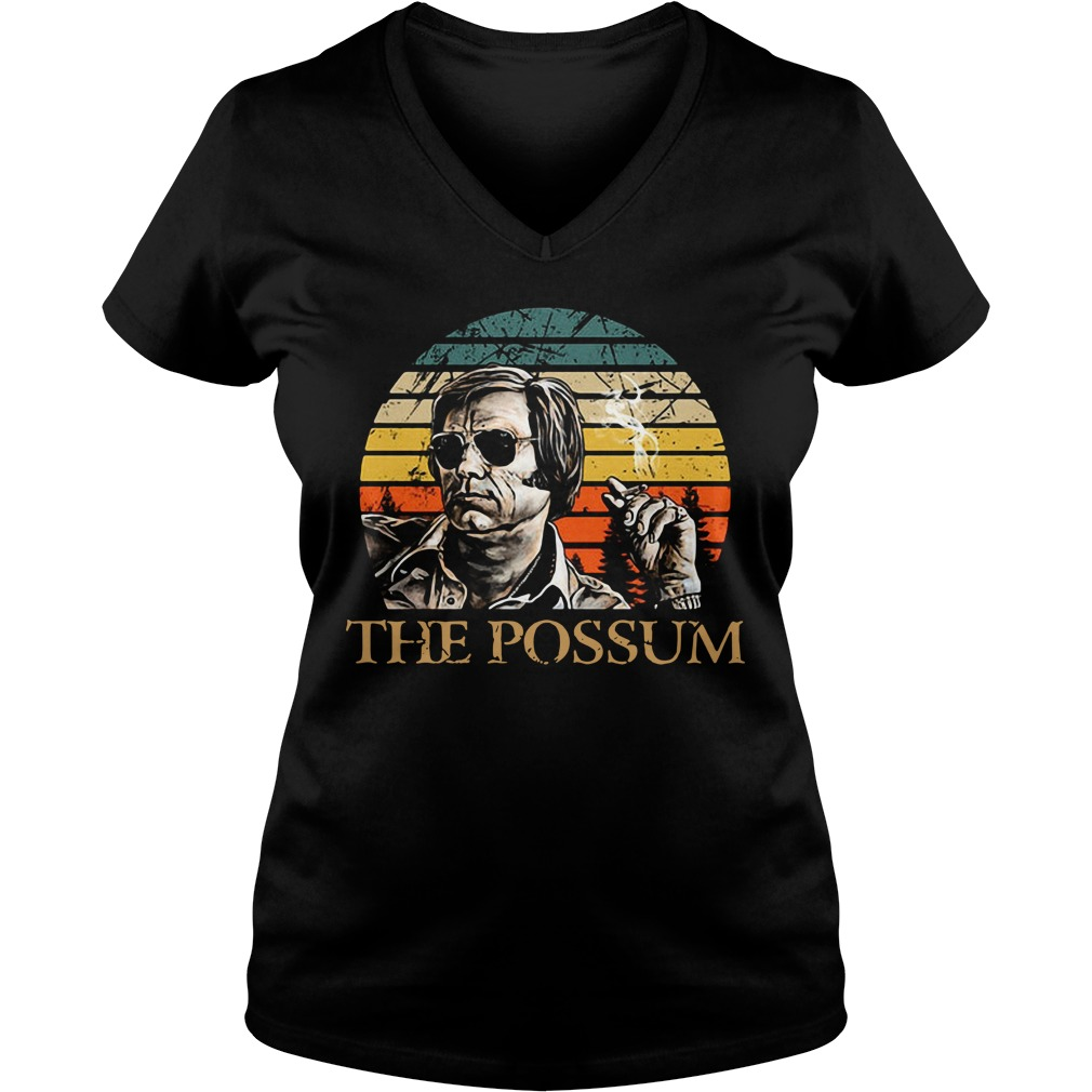 Official Jim Jones the possum vintage V-neck T-shirt