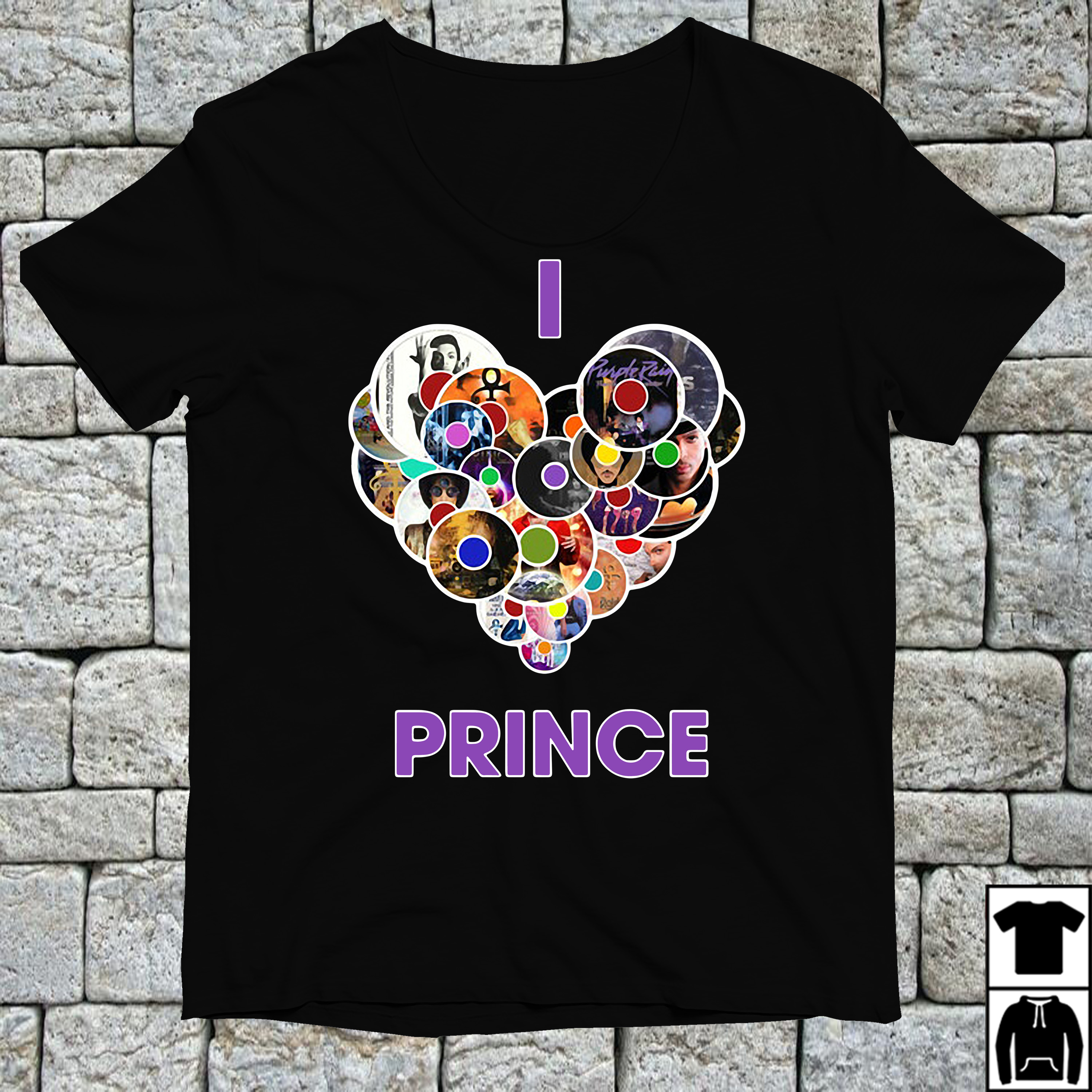 Official I love prince CD shirt