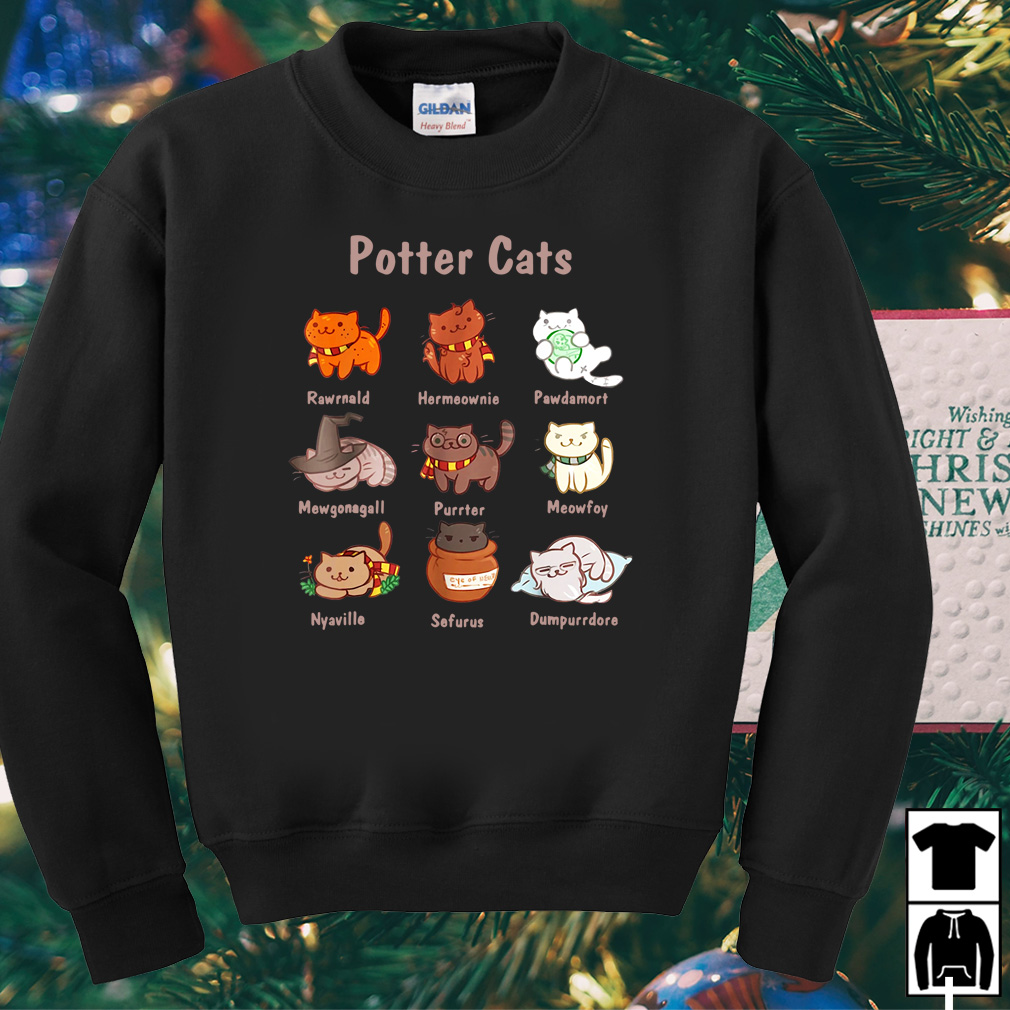 Potter Cats Rawrnald Harmeownie Pawdamort Mewgonagall shirt
