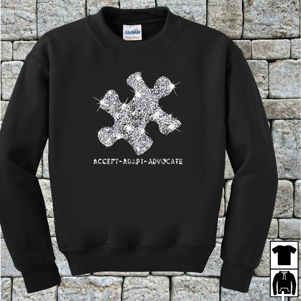 Puzzle Austism diamond glitter accept adapt advocate shirt