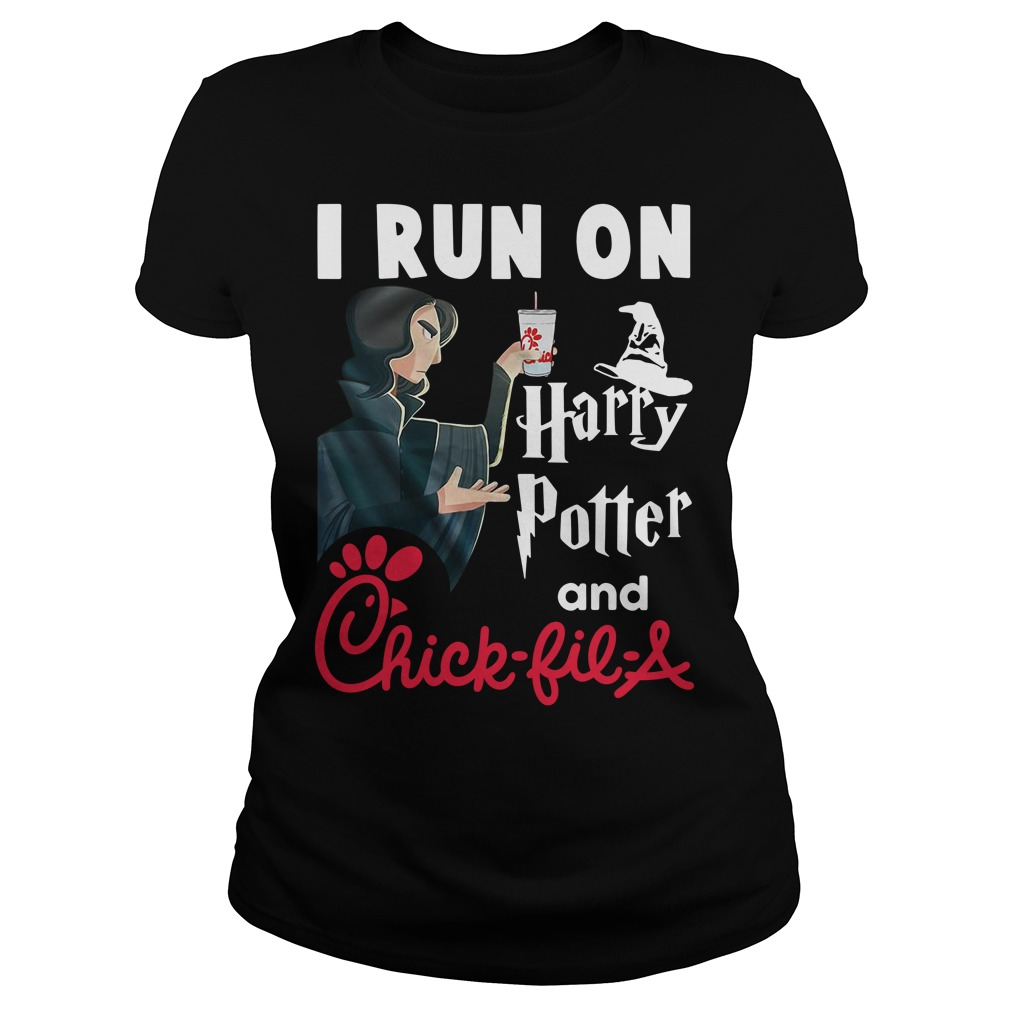 I run on Harry Potter and Chick-fil-A Ladies tee