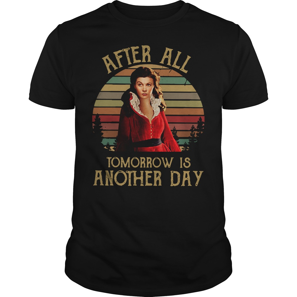 Scarlett O'Hara After all tomorrow is another day sunset Guys Shirt