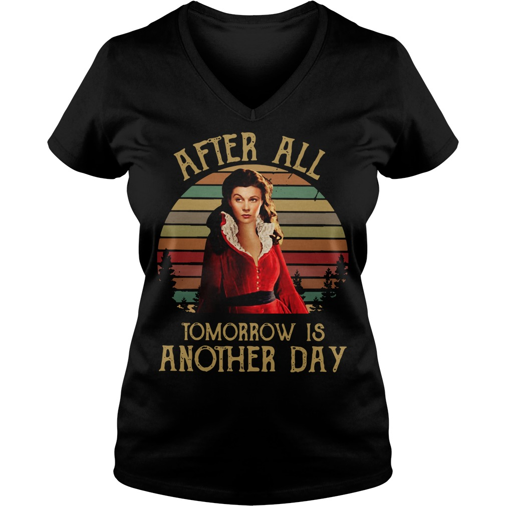 Scarlett O'Hara After all tomorrow is another day sunset V-neck T-shirt