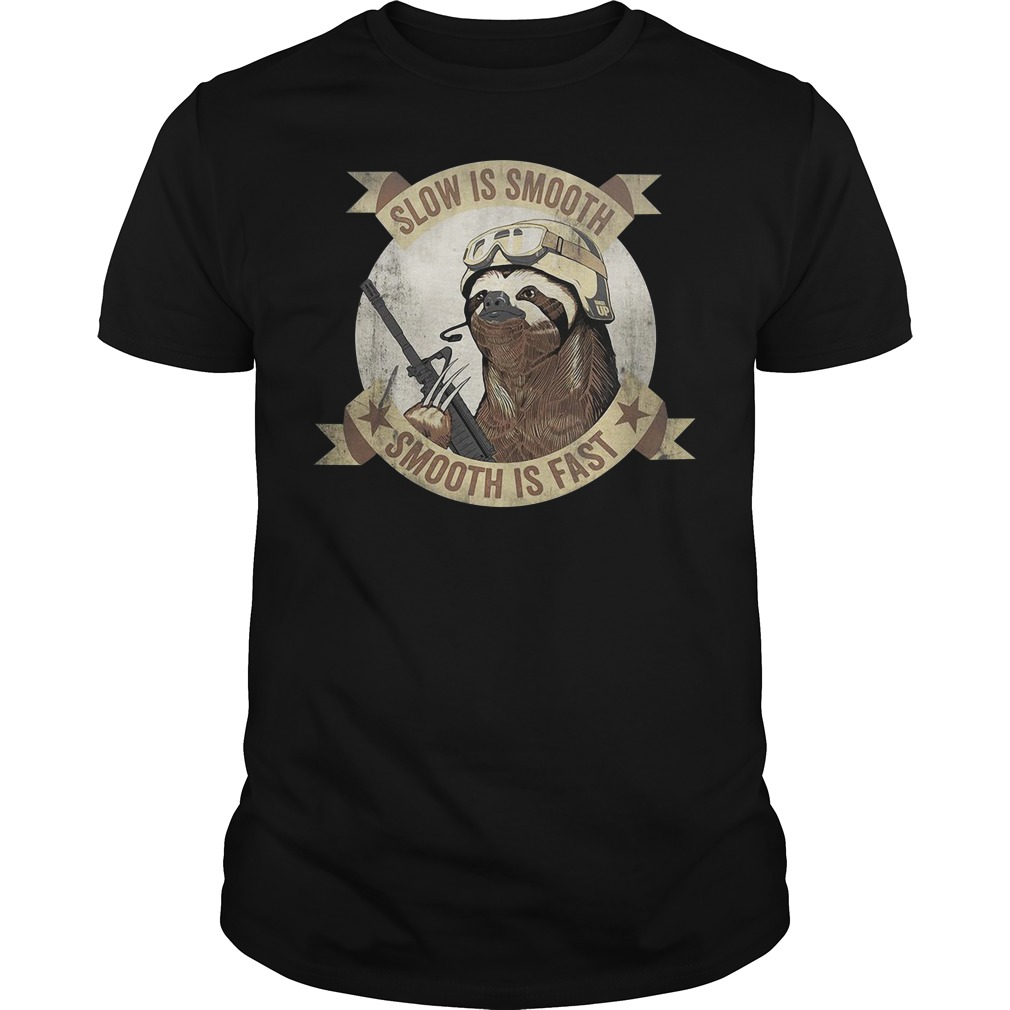 Sloth Slow is smooth smooth is fast Guys Shirt