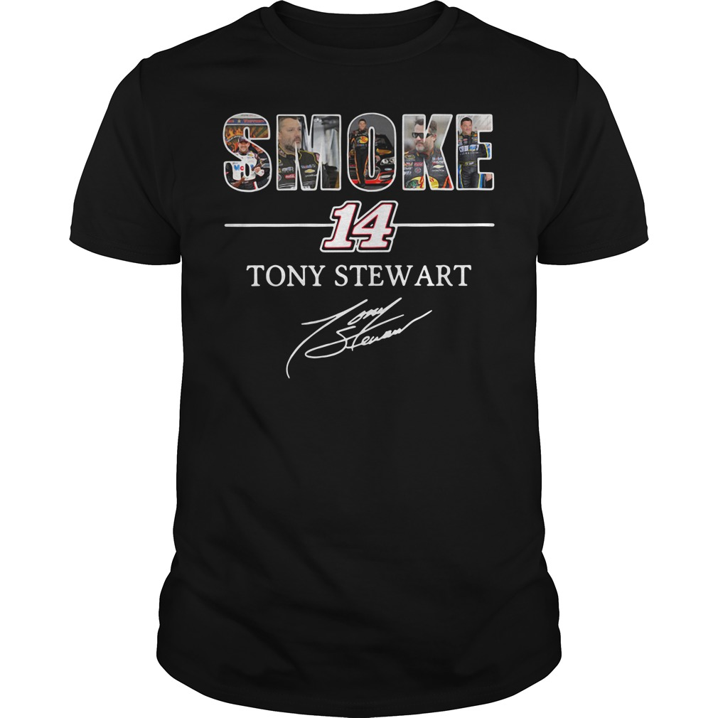 Smoke 14 Tony Stewart Guys Shirt