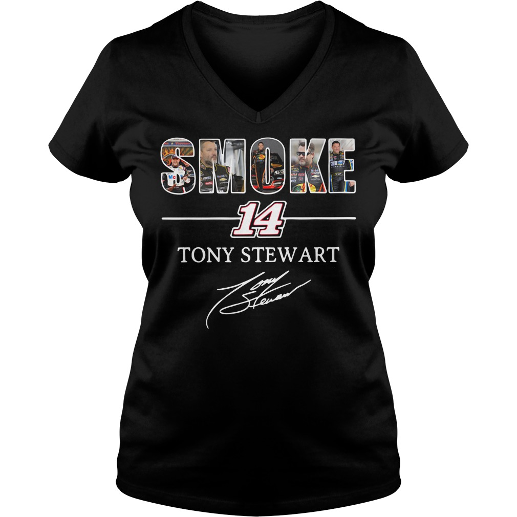 Smoke 14 Tony Stewart V-neck T-shirt