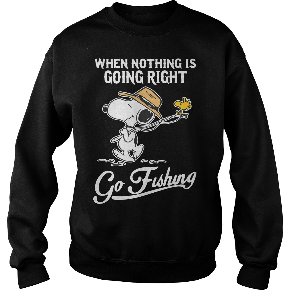 Snoopy when nothing is going right go fishing Sweater