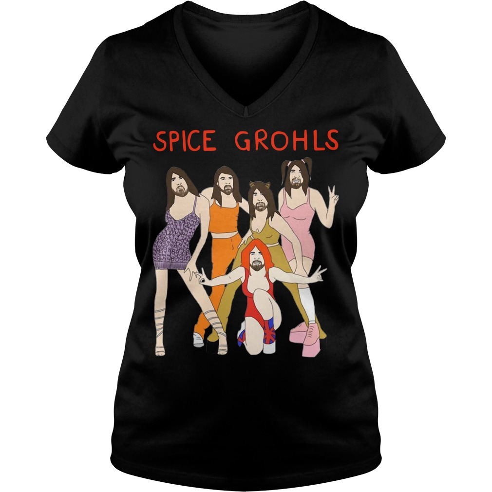 Spice Grohls Girls Dave Music Funny Parody V-neck T-shirt