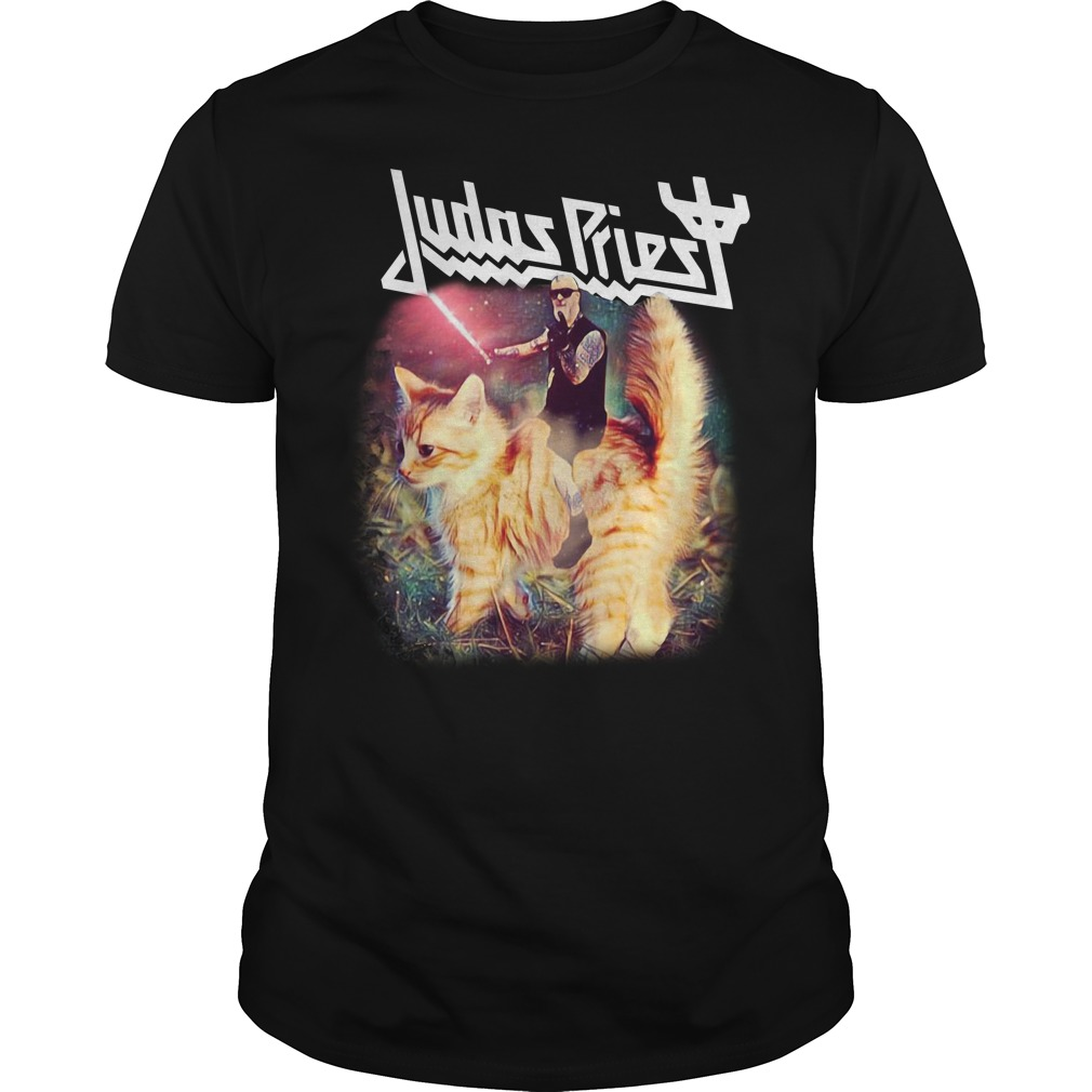 Star Wars Judas Priest riding cat Guys shirt
