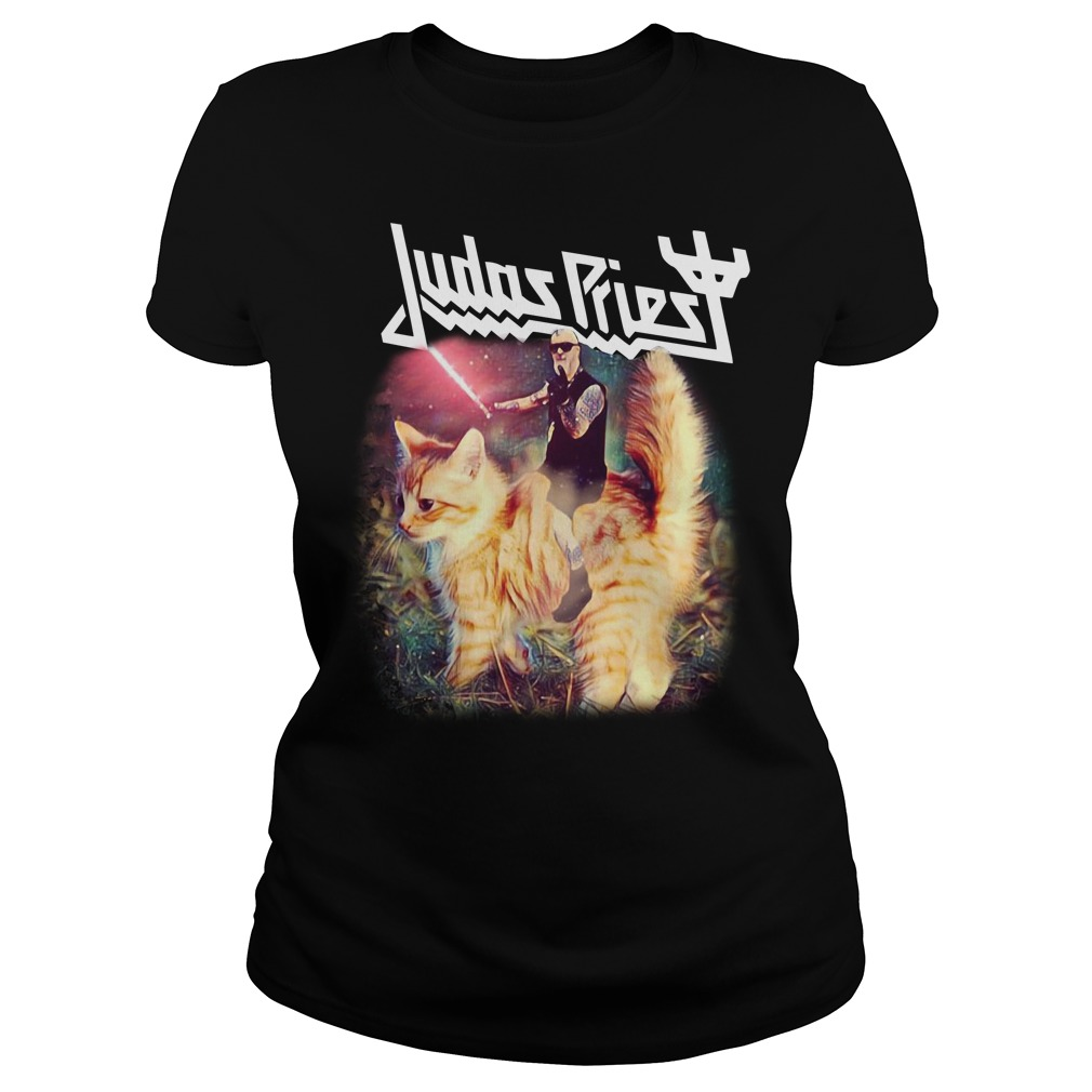 Star Wars Judas Priest riding cat Ladies tee