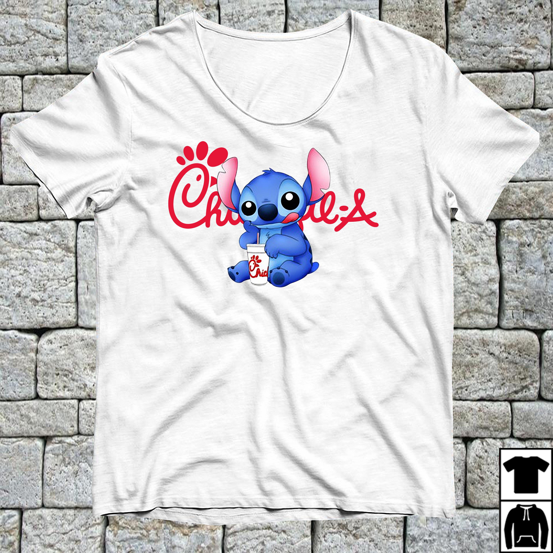 Stitch drinking chick fil a shirt