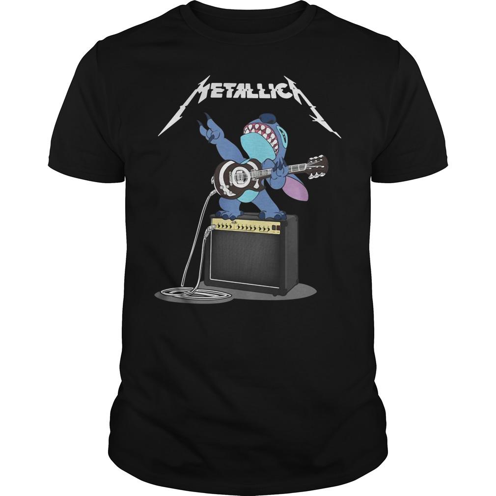 Stitch Metallica Guys Shirt