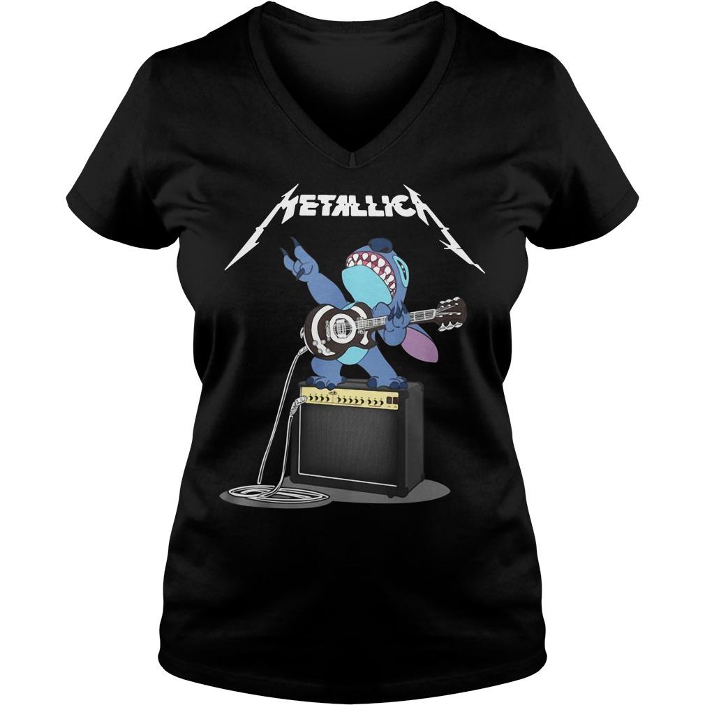 Stitch Metallica V-neck T-shirt
