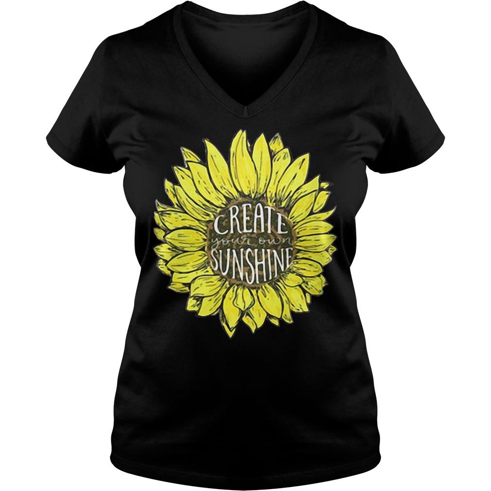 Sunflower create your own sunshine V-neck T-shirt