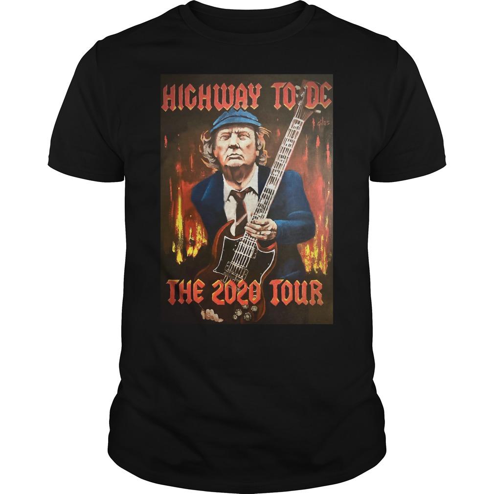 Trump highway to DC the 2020 tour Guys Shirt