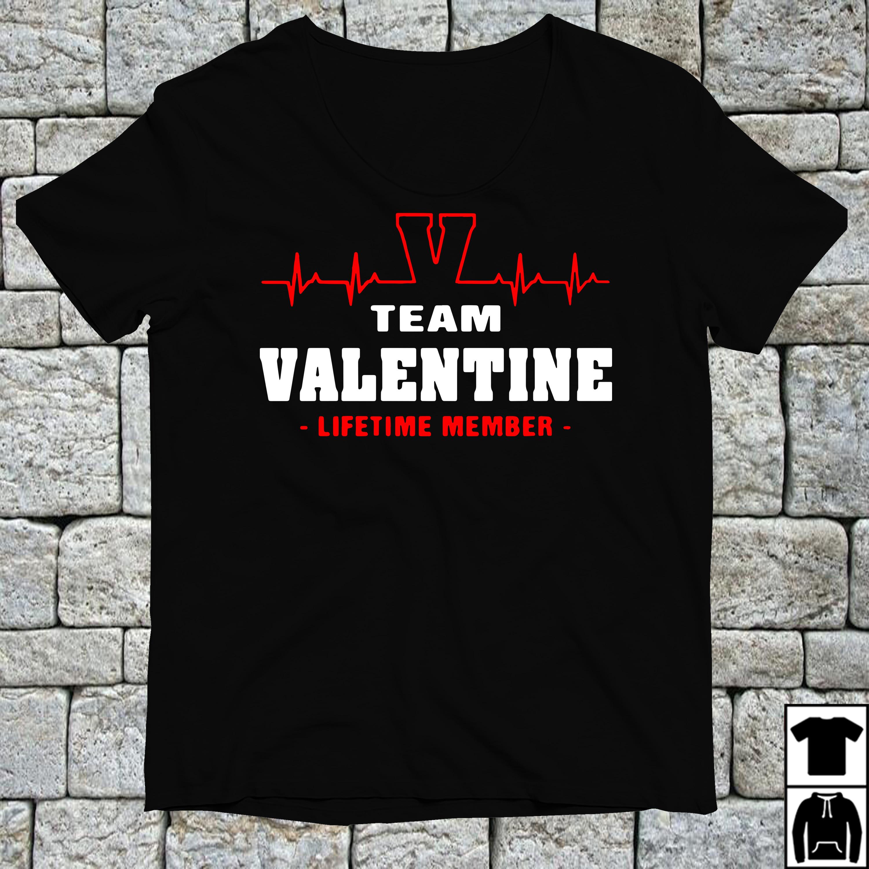 V team Valentine lifetime member shirt