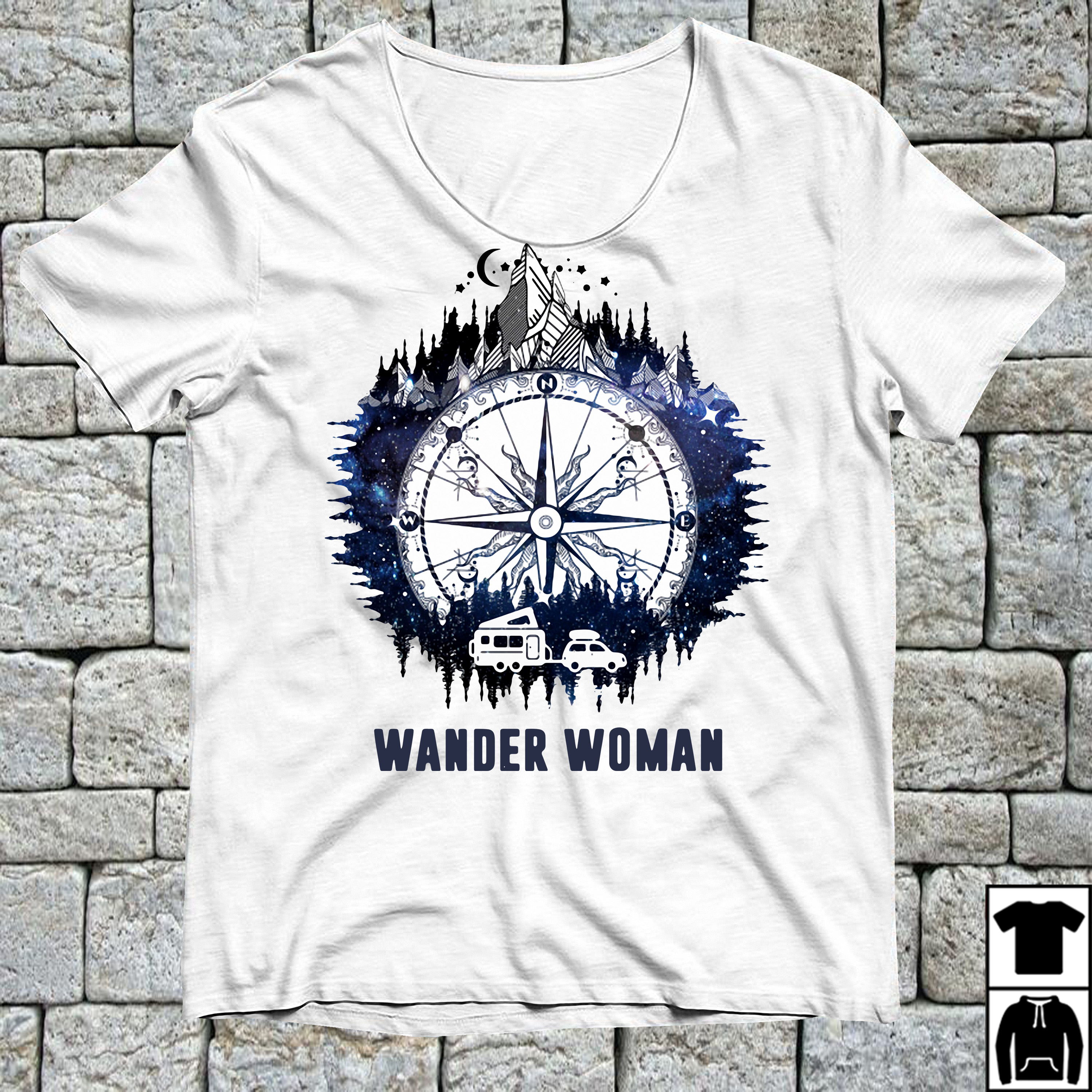 Wander Woman camping compass version shirt