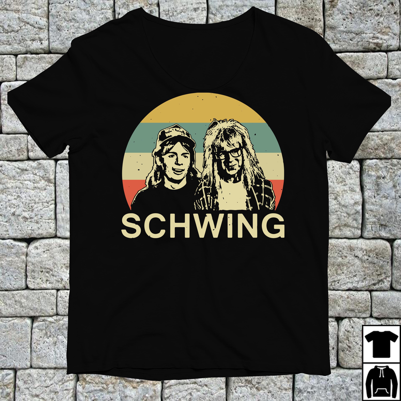Wayne and Garth schwing vintage shirt
