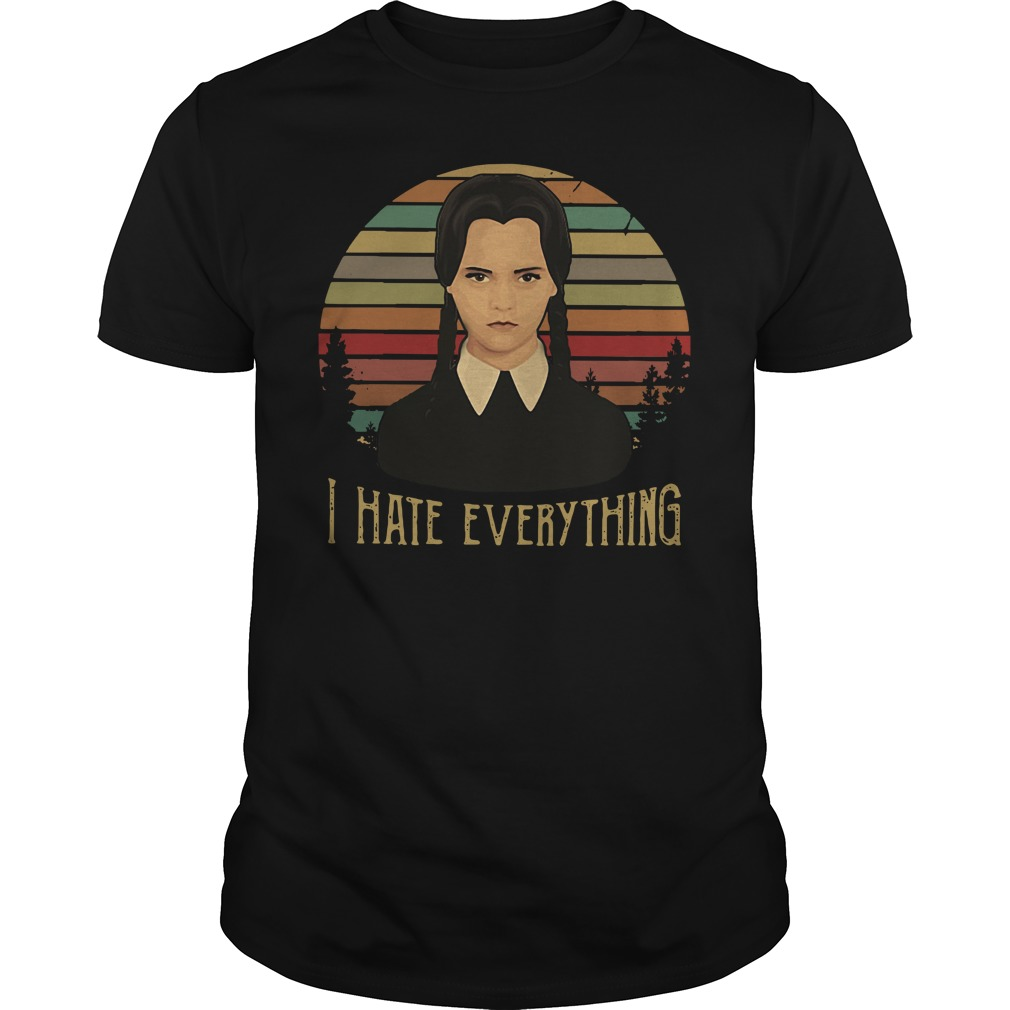 Best Wednesday Addams I hate everything vintage Guys shirt