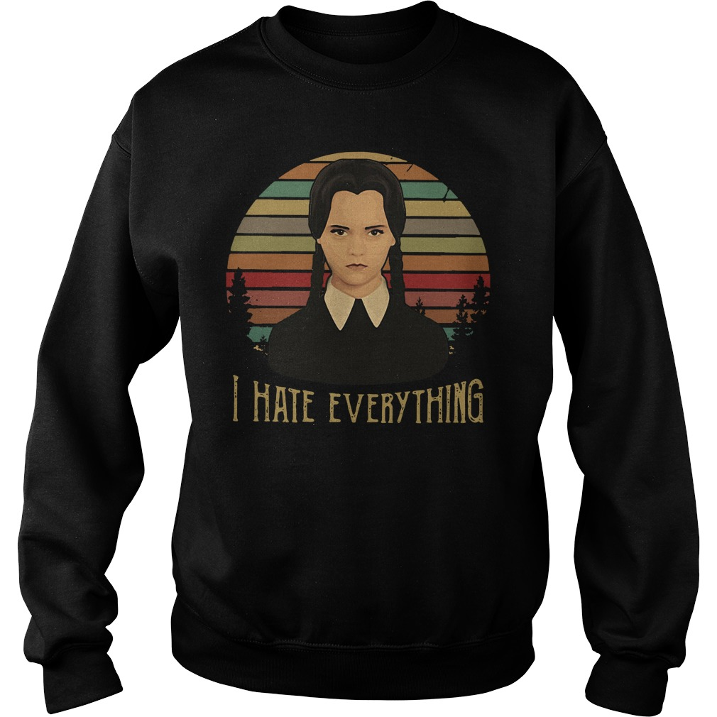 Funny Wednesday Addams I hate everything vintage Sweater