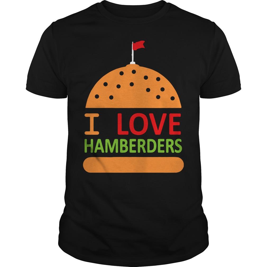 White House hamburger Trump I love hamburger Guys shirt