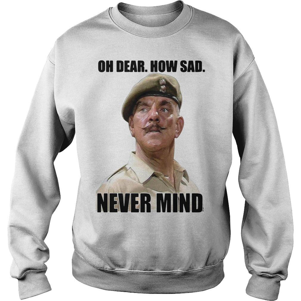 Windsor Davies oh dear how sad never mind Sweater